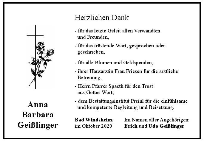 Anna Barbara Geißlinger, September 2020